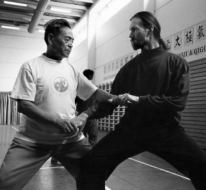 Grandmaster Feng Zhiqiang and Harrison Moretz